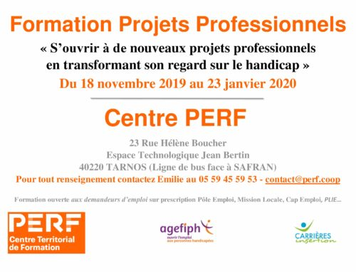 FORMATION PROJETS PROFESSIONNELS