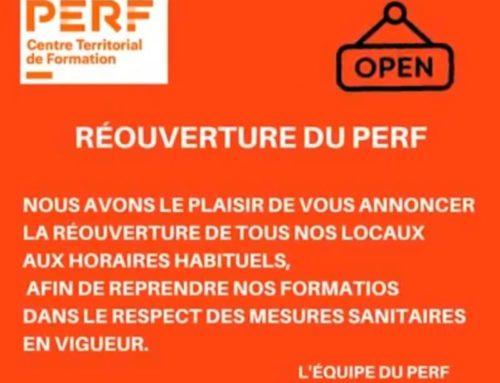 REOUVERTURE DU CENTRE PERF!