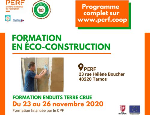 Une formation en éco-construction, financée par votre CPF, ça vous dit ?