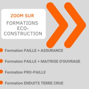 liste des formations en eco-construction